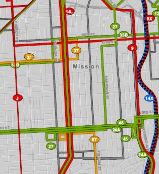 Proposed TEP Reroutes in the Mission District
