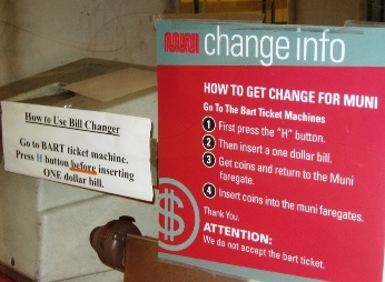 Two signs about making change