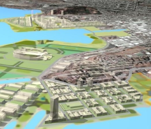 3D Visualization of the Hunters Point Conceptual Plan