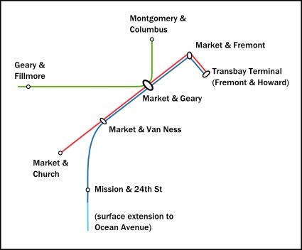 Transbay Transit Center Central Subway Map.No Subway For You Transbay Blog