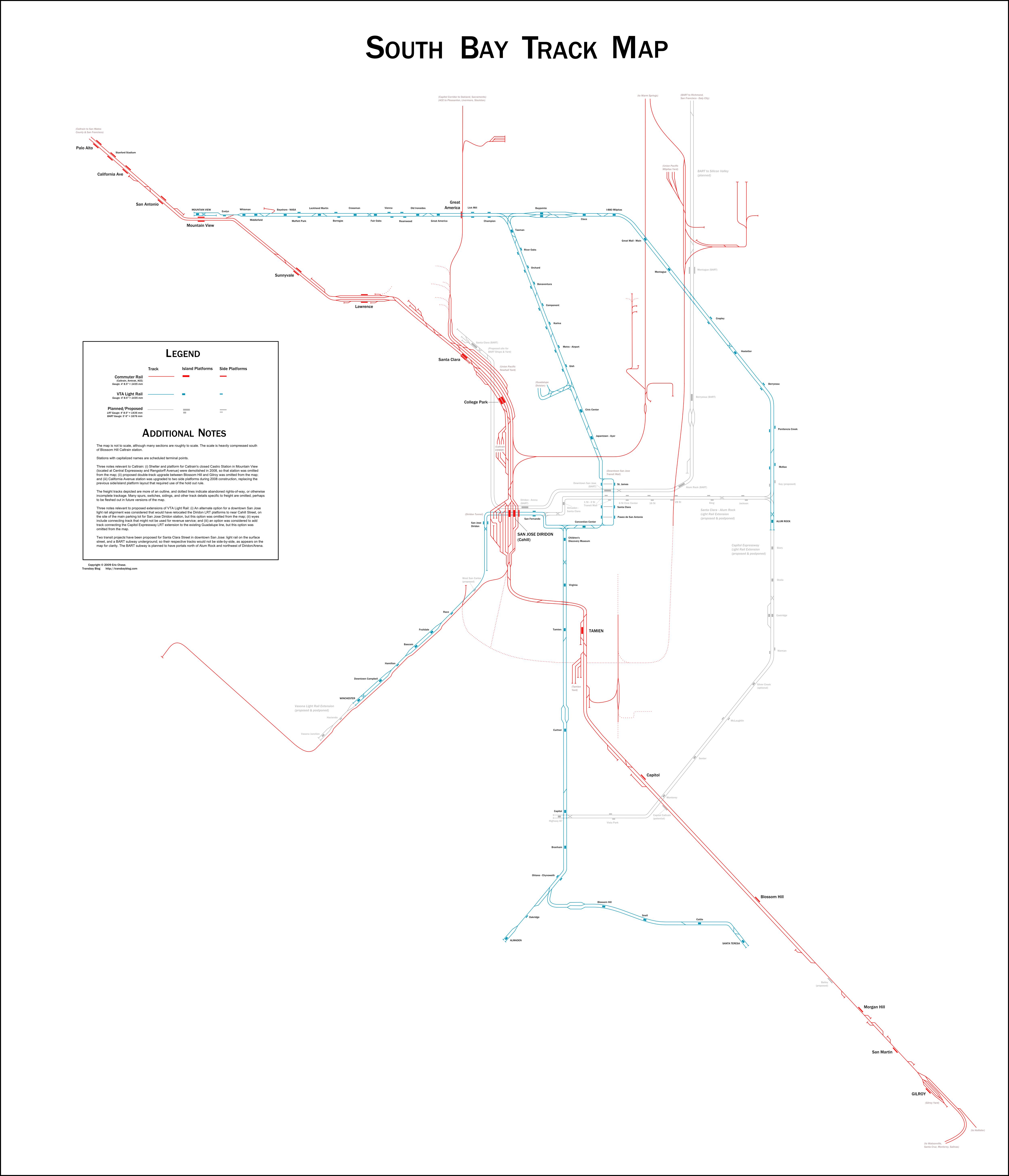 South Bay Track Map | Transbay Blog on