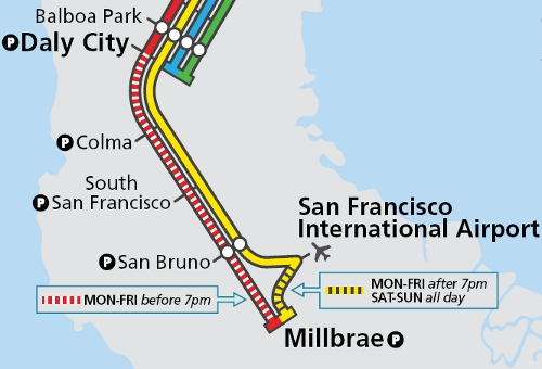 Sf Subway Map Dream.Another Year Another Bart Service Change Transbay Blog