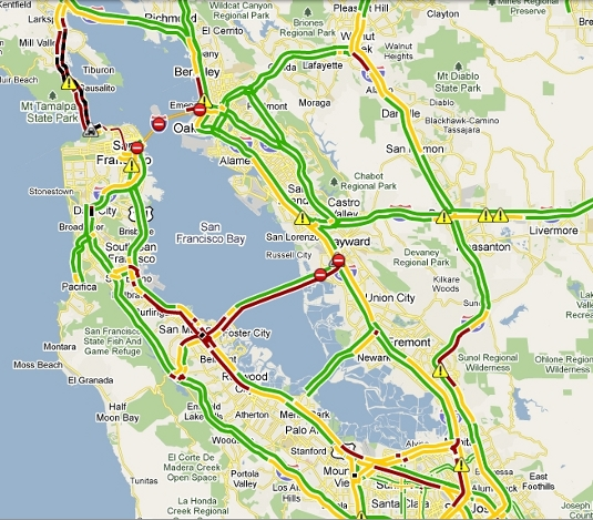 Bay Area Traffic during October 28, 2009 Bay Bridge closure