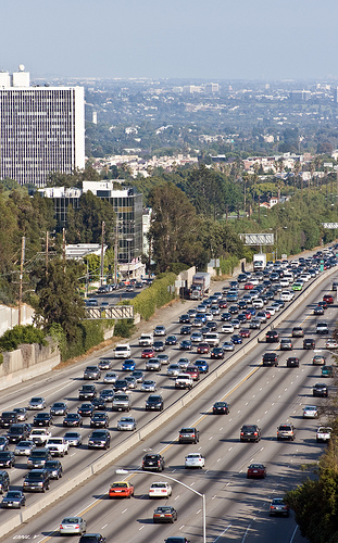 Interstate 405 in Los Angeles.