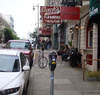 Location of parklet proposed for Post Street.