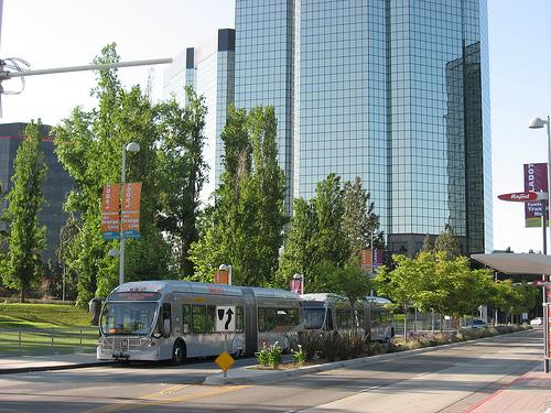 Orange Line BRT at Warner Center