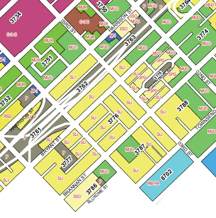 South of Market zoning. Courtesy of SF Planning Department.