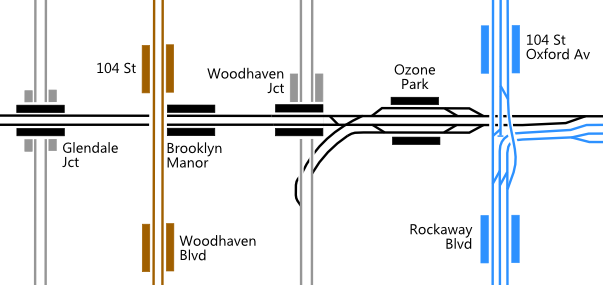 Excerpt from LIRR alternative track map. Click through for full diagram.